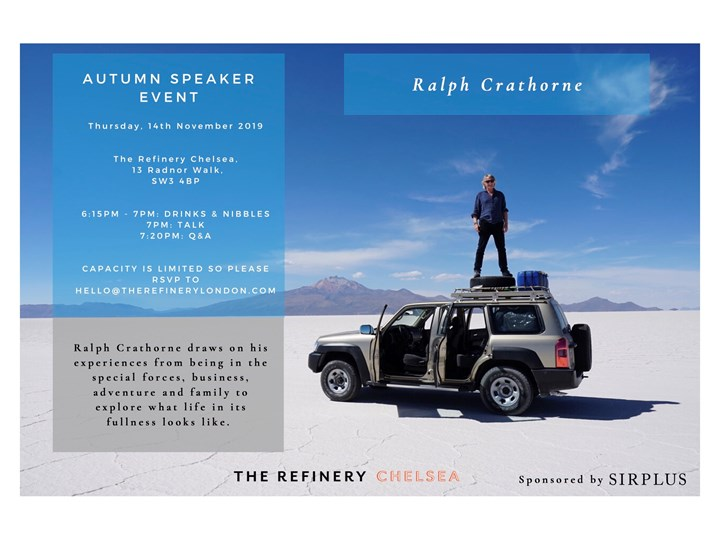 Autumn Speaker Event: Ralph Crathorne